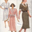 Butterick 4785 Uncut 12 14 16 Belle France Dress Contrast Collar Modest