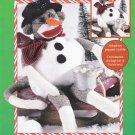 "Red Heel Sock Monkey Snowman ""Flakey"" Kit Leisure Arts 46303"