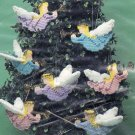 Plastic Canvas Christmas Angel Ornament Kit set of 8 Mary Maxim 47109
