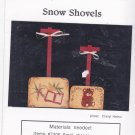 Christmas Snow Shovels Tole Painting Pattern PJ Harden 9004 Safra