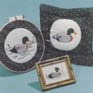 "Orange Delights applique cross stitch pattern 400 ""Mallard Pictures and Pillow"""