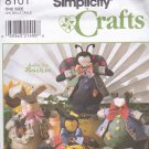 Simplicity 8101 Pattern Uncut Dolls by Ruthie Clothes Bunny Bumble Bee Ladybug Frog