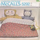 McCall's 5292 Pattern Uncut Mother and Baby Cat Kitten Mouse Bed Doll Plushie Toy