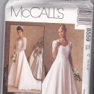 McCall's Pattern 8559 Uncut 10 12 14 Alicyn Wedding Bridal Gown Dress Lace Bodice and Sleeves