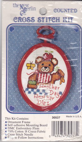 New Berlin Co. Counted Cross Stitch Kit 30537 Another Day Another Diet