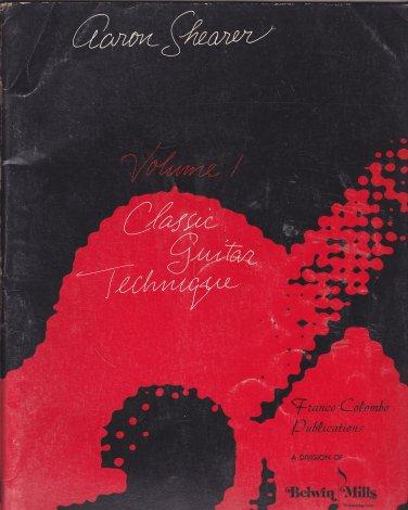 Aaron Shearer Classic Guitar Technique vol 1 No CD, 2nd Edition