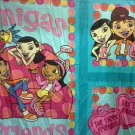 2 Fabric Panels 3 sections each Maya & Miguel Amigas Friends for Pillows, Crafts