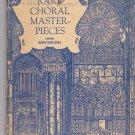 Rare Choral Masterpieces book Musica Sacra Series Parke S Barnard 1951