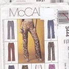 McCall's 3444 Pattern Uncut FF 4 6 8 Low Rise Pants Back Zip Darts