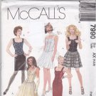 McCall 7990 Pattern Uncut FF 4 6 8 Corset Top Full or Slim Skirt Evening