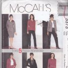 McCall 3373 Pattern Uncut FF 6 8 10 Easy 5 Piece Wardrobe Career Separates