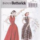 Butterick B4919 Pattern Uncut FF 6 8 10 12 Halter Wrap Dress Retro '52 Mid Calf or Floor Length