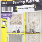 Simplicity 5260 Pattern Uncut FF Roman Shades for Awesome People