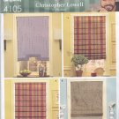 Simplicity 4105 Pattern Uncut FF Roman Shades Christopher Lowell Collection