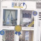McCall's 8211 Pattern Uncut FF Roman Shades Curtains Cornice Window Treatments