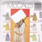 McCall's 9285 Pattern Uncut FF 7 8 10 Girls Sleeveless Empire Waist Dress Jacket