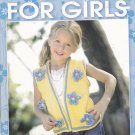 Knit Tops for Girls Pattern Booklet Kelly Wilson Leisure Arts 4555