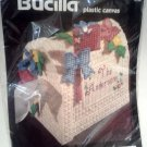 Bucilla Plastic Canvas Kit Flowered Mailbox Tissue Cover 6128