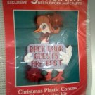 Back Door Guests Are Best Mary Maxim Plastic Canvas Kit Christmas Goose Holiday Decor Sign 7232