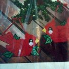 Christmas Holiday Cardinal Ornaments Plastic Canvas Kit Holly Birds 6226 to make 2 decorations