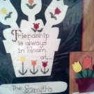 Bucilla 32493 Flower Pot Counted Cross Stitch and Paint Kit Wood Shape and Frame Tulips Personalized
