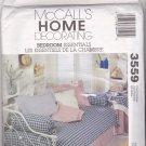 McCall's 3559 Pattern Uncut Duvet Bedskirt Tablecloth Sham Pillows