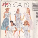 McCall's 3537 Pattern Uncut 12 Dress Elastic Waist Pockets Modest