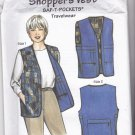Saf T Pockets 9500 Shopper's Vest Pattern Uncut Travel Vest with Hidden Pockets