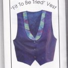 Bethany Reynolds Fit To Be Tried Vest Pattern Uncut Wearable Art 6 8 10 12 14 16 18 20 22 24