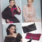 New Look 6426 Pattern Uncut XS S M L XL Capelet Wrap Jacket Evening Bag Purse Formal