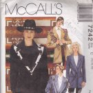 McCall's 7242 Pattern Uncut 10 12 14  Country Western Jacket Shawl