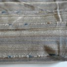 3 Yards Heavy Upholstery Remnant Fabric Soft Blue Tan Sand Bone White Tufted Stripes Rubberized