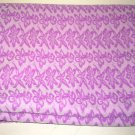 Orchid Pink on Lavender Floral Knit Fabric Polyester 42 inches x 68 inches wide
