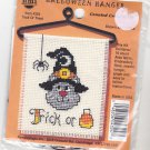 Counted Cross Stitch Kit 4324 Trick or Treat Cat Halloween Hanger NMI