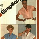 Simplicity 5451 Pattern Uncut 14 Button Front Shirt Collar Variations Cap Sleeves