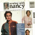 McCall's 8698 Pattern Uncut 8 10 12 14 16 18 20 22 Button Front Shirt Machine Embroidery or Lace