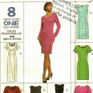 McCall's 8572 Pattern uncut 14 16 18 Semi Fitted Dresses Long Short Sleeves