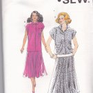 Kwik Sew 1736 Pattern uncut xs s m l xl Loose Fit Top Gathered Skirt