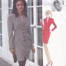 Vogue 1506 Pattern 14 Uncut Attitudes Designer Byron Lars Button Front Lined Dress