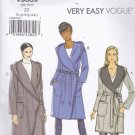Vogue V9069 9069 Pattern Uncut L XL XXL Wrap Coat w/ Hood Loose Fit 16 18 20 22 24 26