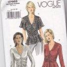 Vogue V7968 7968 Pattern Uncut 14 16 18 Top Peplum Flounce Sleeve