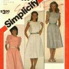 Simplicity 5884 Pattern 10 12 14 Uncut Pullover Dress Ruffles 1980s