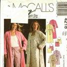 McCall's 4218 Pattern L XL XXL Uncut Robe Nightgown Pajamas Sleepwear