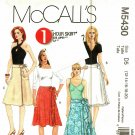 McCall's M5430 Pattern 12 14 16 18 20 Uncut 1 Hour Wrap Skirts
