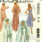 McCall's 6910 Pattern 10 Bridal Wedding Gown Bridesmaid Dress Train Cape