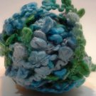 Needles Novelty Boucle Polyester Yarn Soft Blue Green 50g 27 yards