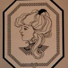 "Idle Time Designs ""Portrait In Lace"" Cross Stitch Design Chart Pattern"