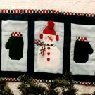 Sew Wonderful Dreams 123 Three's Company Mini Quilt Snowman Mittens Pattern to Sew