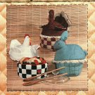 Patch Press Country Casserole Cover Pattern to sew Soft Chicken Turkey Rabbit Patch Press