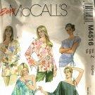 McCall's M4516 Pattern uncut L XL Pullover Boho Tops One Shoulder Option